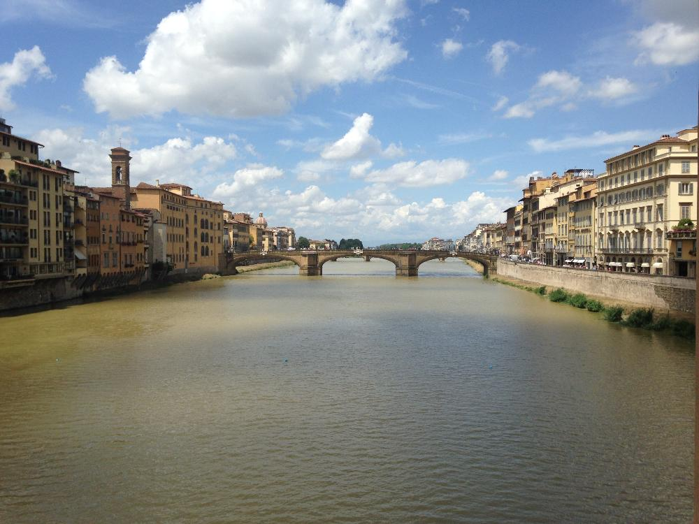 Florence river and buildings