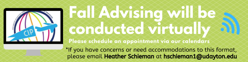 Fall Advising is Virtual. Please schedule via our Calendars.